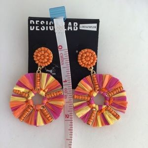 Design Lab Lord & Taylor Jewelry - Design Lab Fiesta Tassels Pink & Orange Earrings